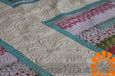 Piece N Quilt: Cross - Odds & Ends Quilt - machine quilting by Natalia Bonner of Piece N Quilt