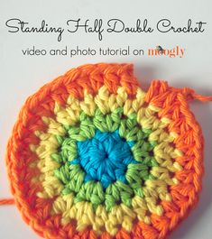 Standing Half Double Crochet: Starting a row of HDC without a slip stitch and chain (working straight OR in the round).  Works for a DC too, but not for SC.