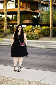 Plus size little black dress by 'Sometimes Glam'. For more inbetweenie and plus size style ideas go to www.dressingup.co.nz