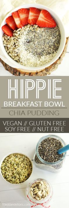 This chia pudding is a total Hippie Breakfast Bowl—packed with nutrients! (vegan, soy free, gluten free, nut free, paleo, no refined sugar) via @frieddandelions