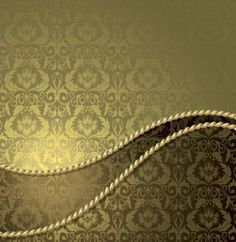 golden vintage pattern in vector background