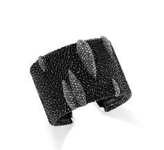 black diamonds and white gold stingray cuff. De Grisogono.