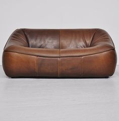 Gerard Van Den Berg; Leather 'Ringo' Sofa for Montis, 1970s.