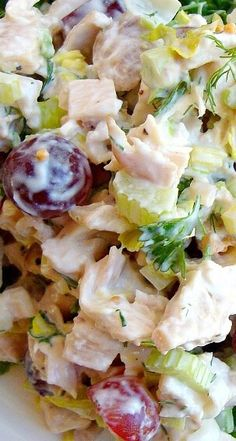 Chicken Salad ~ Juicy, crunchy, creamy, sweet and tangy salad.