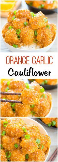 Baked Orange Garlic Cauliflower