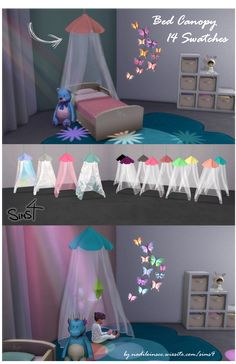 #sims4 #sims4cc #customcontent #cc #kids #toddlers #kidsroom #nursery #toddlersroom #furniture #decoration #clutter #sweet #bedcanopy #dreamcatcher Jogo The Sims 4, The Sims 4 Bebes, Sims 4 Bedroom, Sims 4 Clutter, Sims 4 Mm Cc, Sims 4 Game, Sims Mods, Toddler Cc Sims 4, Toddler Bed