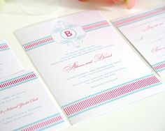Fancy Stripes Wedding Invitations Collection