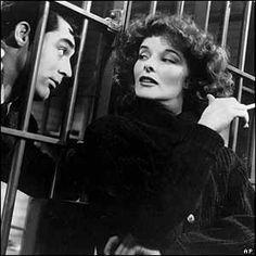 """Katharine Hepburn and Cary Grant, """"Bringing Up Baby""""."""