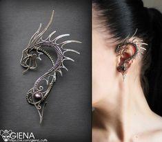 Dragon Ear Cuff GIENA. Дизайнерские украшения. Каффы.