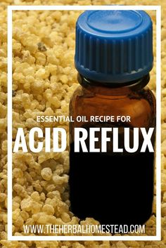 Make your own acid reflux remedy with essential oils