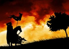 Medieval Knights Wallpaper | Knight and Steed Silhouette - Fantasy & Abstract Background Wallpapers ...