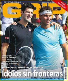 Rafael Nadal and Novak Djokovic on the cover of Revista Grip!