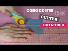 COMO CORTAR CON CUTTER ROTATORIO, REGLA Y BASE DE CORTE (PATCHWORK) - YouTube