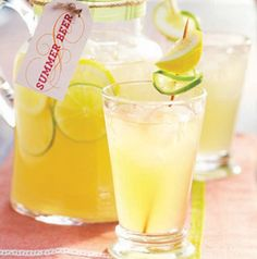 Shandies are perfect for summer. Summer Beer, from Seasons, is a fabulous version – wheat beer, lemonade and a little citrus vodka.