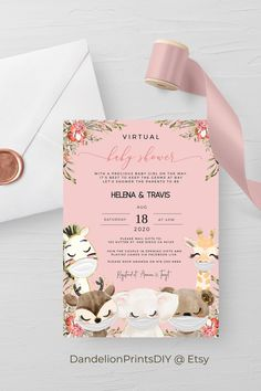 Introducing AVA - This cute virtual baby shower invitation, perfect for a sweet baby girl, is an editable instant download template. You get both card and smartphone formats included in your order. #babygirl #babyshower #virtualinvitations #divebyinvitations Baby Shower Invites For Girl, Baby Shower Cards, Baby Shower Invitations, Baby Shower Printables, Party Printables, Sprinkle Invitations, Virtual Baby Shower, Diy Baby, As You Like