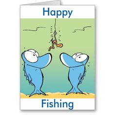 Fishing is an old and beloved past time. This card would suit any angler from the professional fisherman to the weekend warrior. #zazzle #greetingcard #fishing #humor #funnycard $4.35