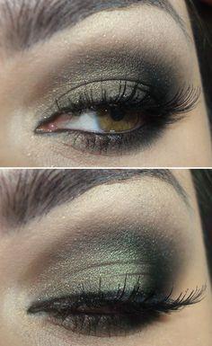 Gold smokey eye - greenmoke-mac