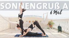 Yoga Sonnengruss Anfänger Routine | 6 Runden Surya Namaskar A Morgen Ro...