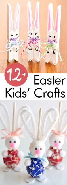 Welcome Spring with a few Easter kids crafts! These Easter crafts can't be missed! Easter Crafts To Make, Easter Projects, Projects For Kids, Kids Crafts, Kids Diy, Decor Crafts, Diy Projects, Spring Crafts, Holiday Crafts