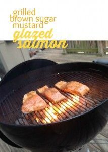 This recipe for Grilled Brown Sugar Mustard Glazed Salmon is easy, only requires a few ingredients, and is oh so yummy.