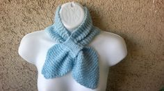 Hand Knit Scarf  Tuxedo In light blue  My  by ethnicdesign on Etsy, $19.00  #etsy #scarf #handmade #fashion