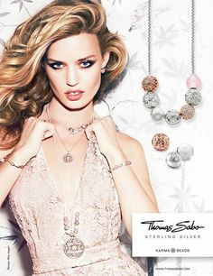 The beautiful Georgia May Jagger in the new ad for Thomas Sabo Karma Beads Collection Georgia May Jagger, Georgia Mae, Thomas Sabo, Mj Kids, Love Fashion, High Fashion, Jewellery Advertising, Brand It, Jewelry Branding