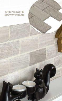 #tile #lowes #mosaics #glassmosaics #backsplash ST457WDGR0204 Available at Lowe's and Lowes.com