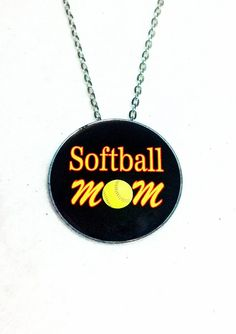 Softball Mom Necklace Sports Photo Pendant by sherrollsdesigns, $13.00