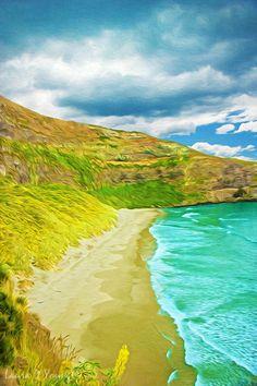 New Zealand Art Print Ocean Art Photo Rustic by FineArtography