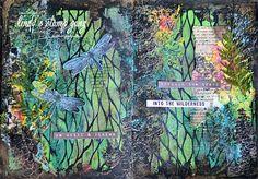 Art Journal Spread by Elena Zemlyanskaya | Lindy's Stamp Gang