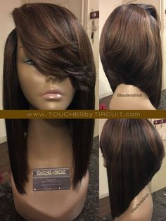Full wig with closure. Constructed with 2 bundles 12'/16' + 16' closure ***If you would like a different color, please include the c...