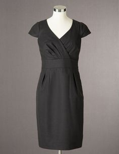 Boden Wrap Front Wool Dress
