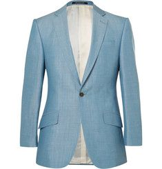 Richard James - Blue Slim-Fit Wool, Linen and Mohair-Blend Suit Jacket