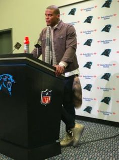 Cam Newton sported a foxtail earlier this season that are flying off the shelves. (Twitter)
