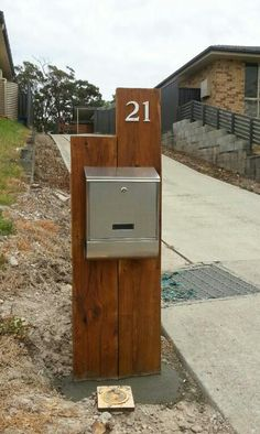 Letterbox .. awesome handiwork . Mailbox idea, but do it with metal