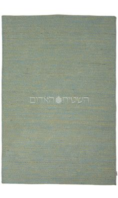Turquoise Cotton Flat Weave Rug