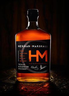 Herman Marshall Bourbon Whiskey :: The Dieline #spirits #packaging #design