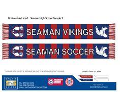 Seaman High Vikings scarf for the Seaman High School Soccer Team!