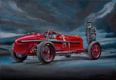 Alfa Romeo P3 with the designer Vittorio Jano (1891-1965) by Loek Bakhuizen