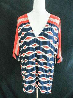 NWT MARC JACOB SWIMWEAR sz S PRINTED LONG TOP/MINI DRESS #MarcJacobs #Beachwear