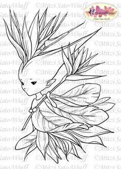 Bird of Paradise Sprite Digital Stamp