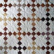 Brown and White quilt