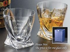 Personalised Crystal Whisky Glass Wedding Father Of The Bride In Silk Gift Box