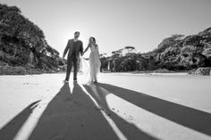 The bride and groom, Cat and Luke in that amazing light... Who doesn't love a beach wedding on North Stradbroke Island. Absolute paradise and the best place to get married www.stradbrokeislandphotography.com Straddie Wedding Photographer