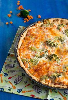 Brokkoli Möhren Quiche hauptspeisen kinder rezepte quiche snacks-und-kleine-gerichte vegetarisch Französisch Kochen by Aurélie Bastian