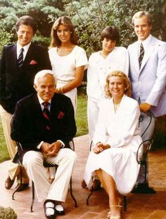 Monaco Royal Family, 1978. Note Phillipe Junot in the back row, then husband of Princess Caroline.