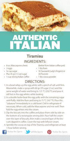 Tiramisu Recipe from Purdue Rec Sports Authentic Italian Cooking Demonstration. #MoveMoreAchieveMore