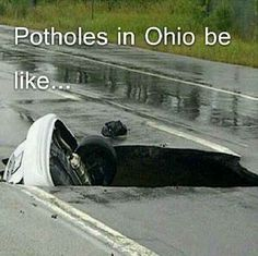 Potholes   23 Words That Have A Totally Different Meaning In Ohio