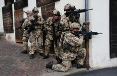 German Armed Forces Bundeswehr soldiers equipped with Gladius Future Soldier System