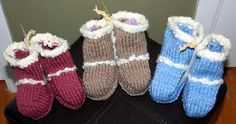 Baby Booties - Ugg Boots Knitting Pattern